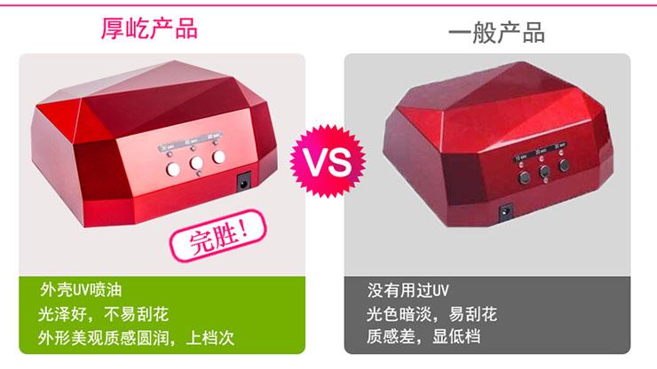 高效速干自动感应美甲灯 UV+LED钻石两用更全面