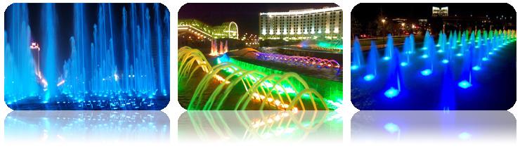 厚屹壁挂式LED水底灯HY-H230-9s七彩水底灯