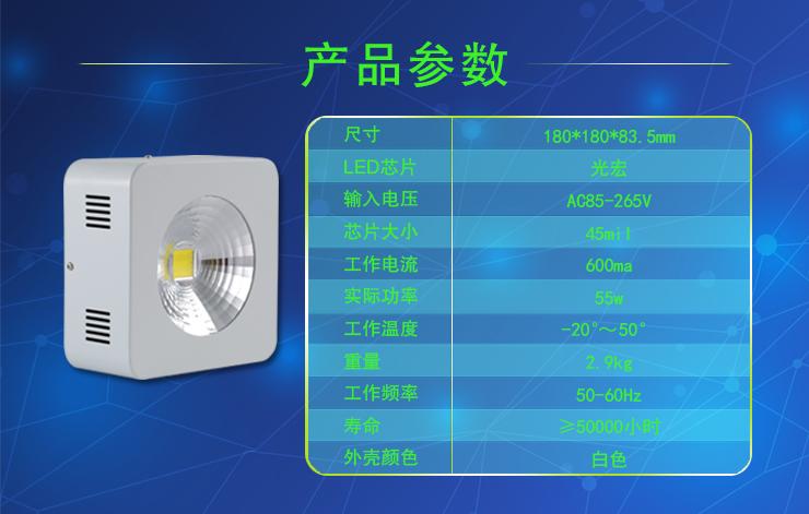 厚屹独特设计75W LED工矿灯亮度高能耗低