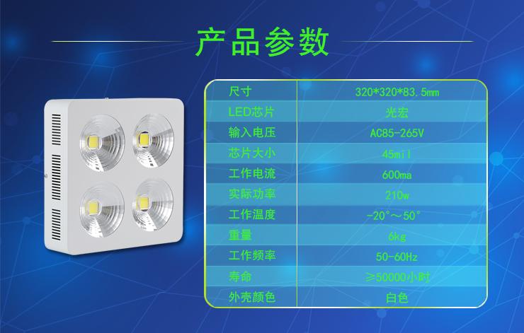 厚屹独特设计HY-HB01-4X75W LED工矿灯亮度高能耗低