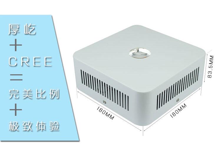 CREE全光谱LEDqy288千赢国际灯200W透镜qy288千赢国际灯尺寸标注