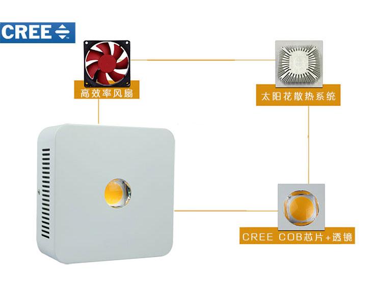 CREEqy288千赢国际生长灯200W透镜qy288千赢国际灯芯片散热细节展示